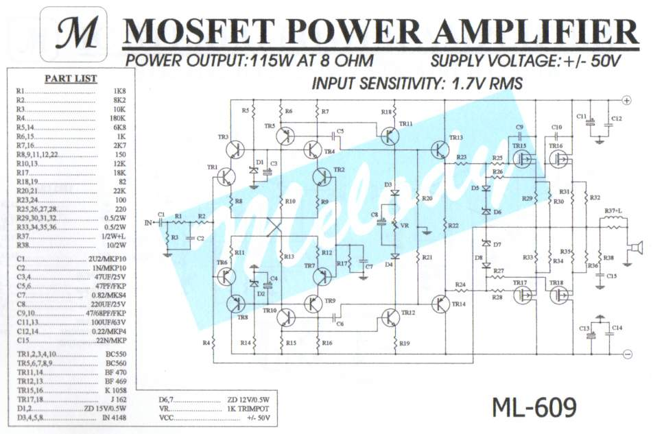 Superb Do It By Self With Wiring Diagram 400W Power Amplifier Circuit Wiring Digital Resources Bemuashebarightsorg
