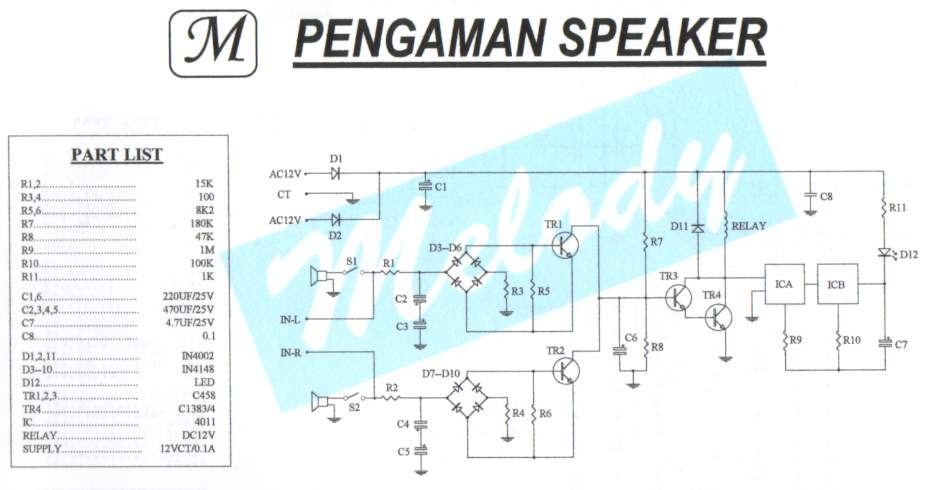 DC Audio Amp Circuit Protection